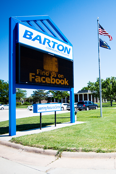 Barton welcome sign